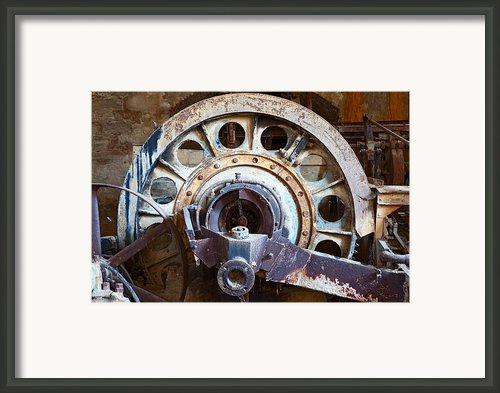 Old Rusty Vintage Industrial Machinery Framed Print By Dirk Ercken