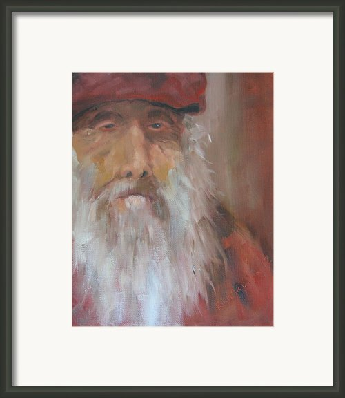 Old Salt Christo At 80 Framed Print By Susan Richardson