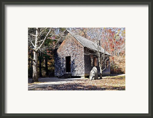 Old Schoolhouse Building Framed Print By Susan Leggett