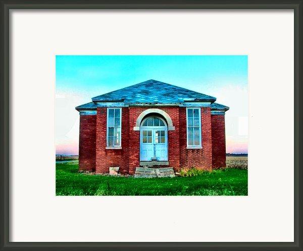 Old Schoolhouse Framed Print By Julie Dant