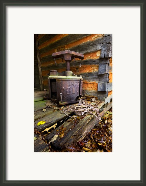 Old Sorghum Press Framed Print By Debra And Dave Vanderlaan