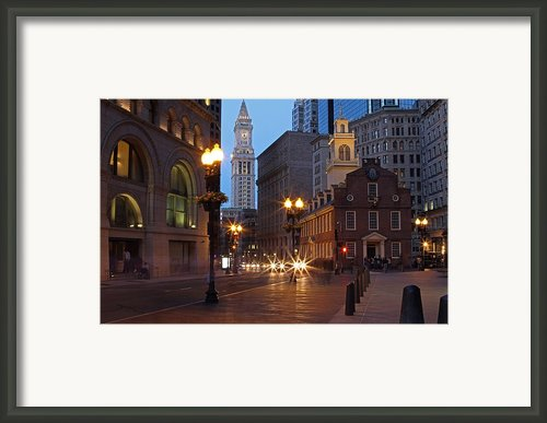 Old State House And Custom House In Boston Framed Print By Juergen Roth