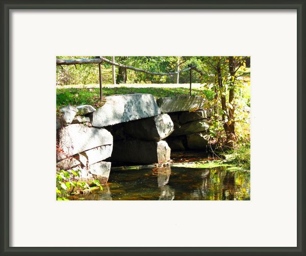 Old Stone Bridge Framed Print By Barbara Mcdevitt