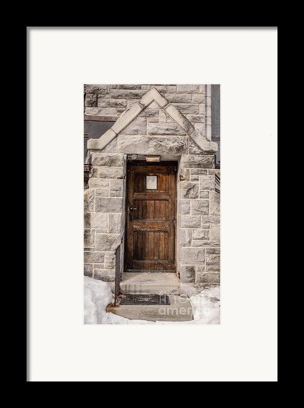 Old Stone Church Door Framed Print By Edward Fielding
