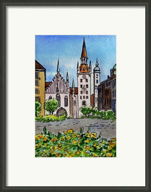 Old Town Hall Munich Germany Framed Print By Irina Sztukowski