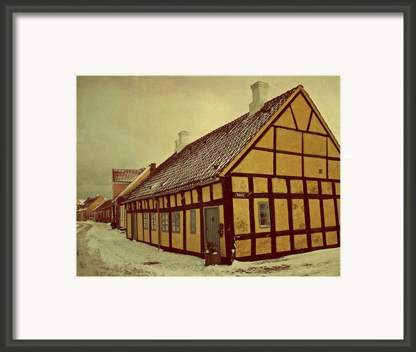 Old Town Framed Print By Odd Jeppesen