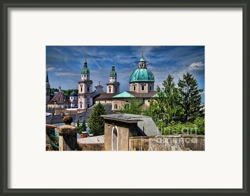 Old Town Salzburg Austria In Hdr Framed Print By Sabine Jacobs
