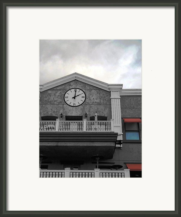 Old Town Temecula - The Clock Framed Print By Glenn Mccarthy Art And Photography