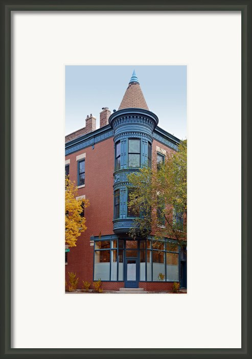 Old Town Triangle Chicago - 424 W Eugenie Framed Print By Christine Till