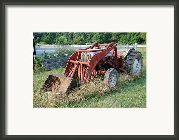 Old Tractor Framed Print By Jennifer Lyon
