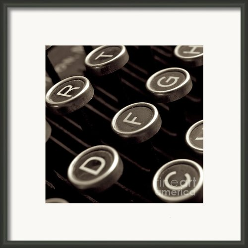 Old Typewriter Framed Print By Bernard Jaubert