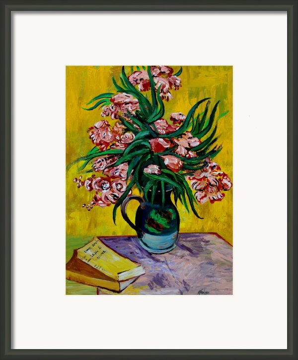 Oleanders Framed Print By Karon Melillo Devega