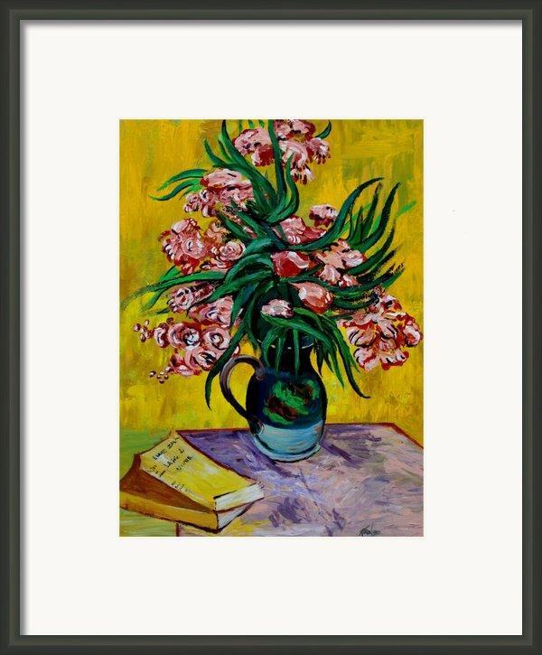 Oleanders Framed Print By Karon Melillo Devega