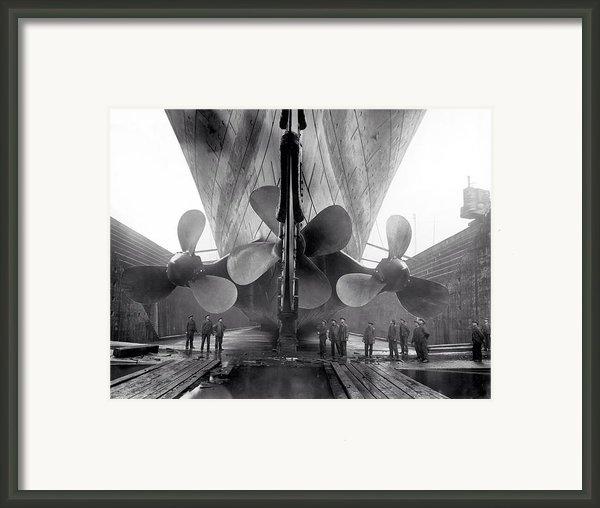 Titanic Propellers 1911 Framed Print By Stefan Kuhn