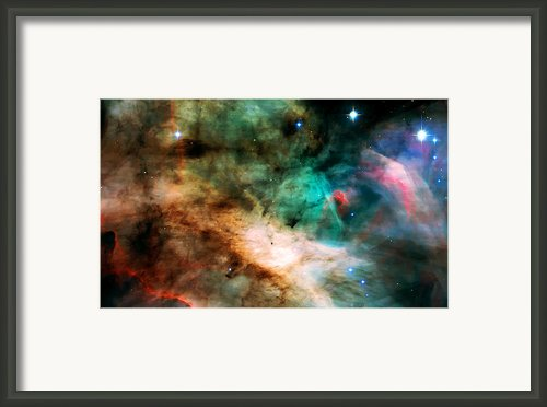 Omega Swan Nebula 2 Framed Print By The  Vault - Jennifer Rondinelli Reilly