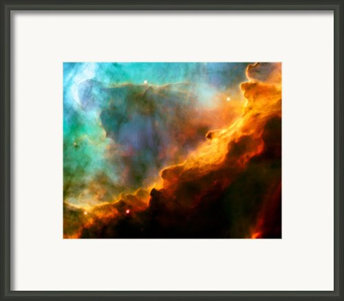 Omega Swan Nebula 3 Framed Print By The  Vault