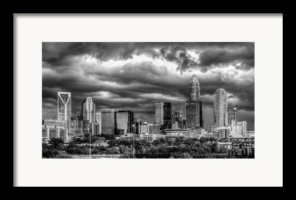 Ominous Charlotte Sky Framed Print By Chris Austin