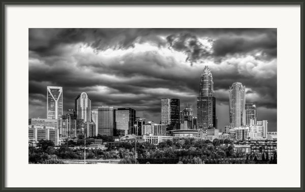 Ominous Charlotte Sky Framed Print By Chris Austin
