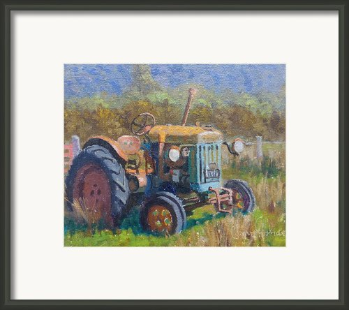 On A Westland Farm  Framed Print By Terry Perham
