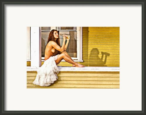 On My Mind Painted Framed Print By David  Naman