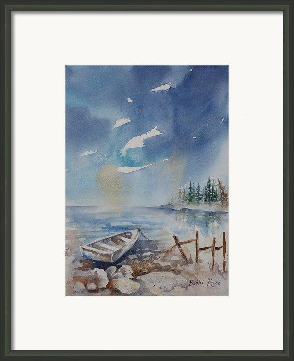 On The Rocks Framed Print By Bobbi Price