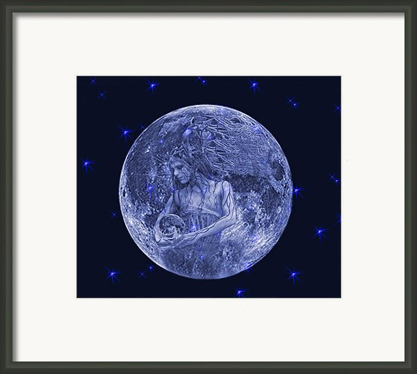 Once In A Blue Moon Framed Print By Alex Hardie