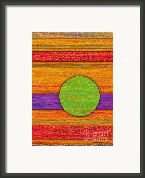 One Appeared Framed Print By David K Small