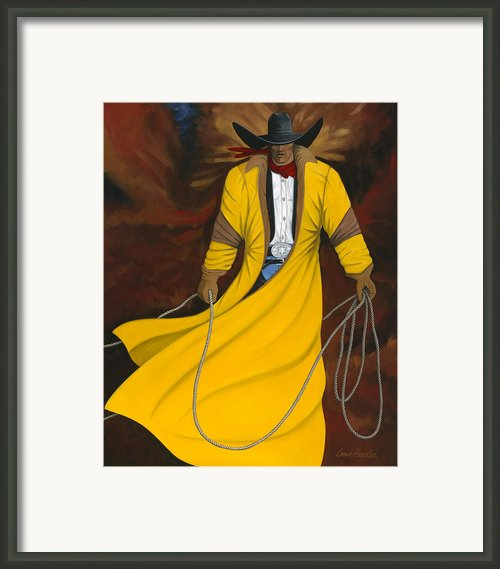 One Cowboy Framed Print By Lance Headlee