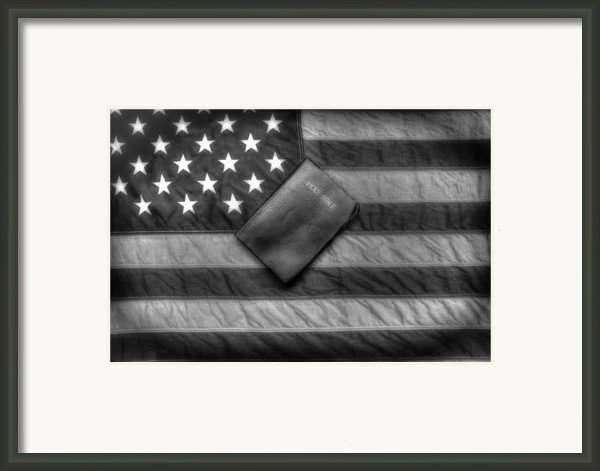 One Nation Under God Vintage Framed Print By Flora Ehrlich