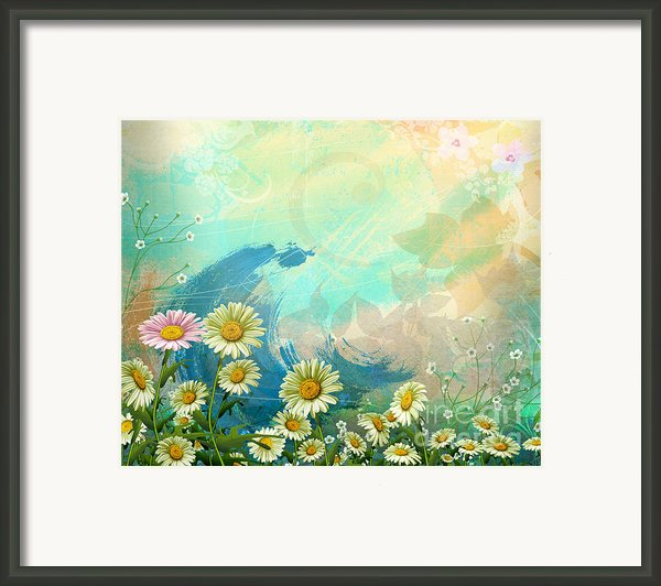 One Pink Daisy Framed Print By Bedros Awak