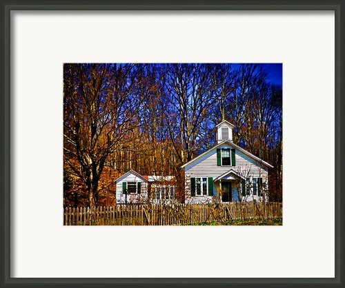 One Room Schoolhouse  Ulster County Ny Framed Print By Pamela Phelps