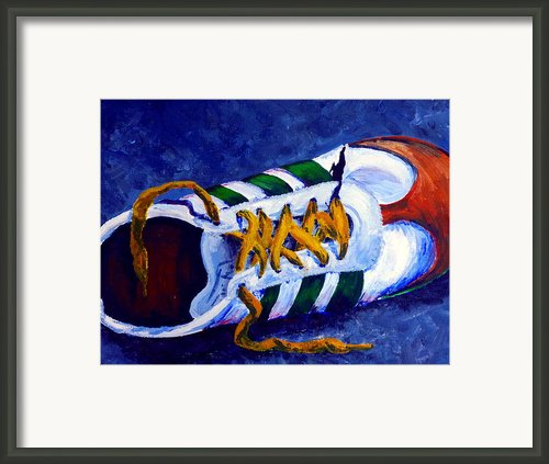 One Shoe Framed Print By Jackie Carpenter