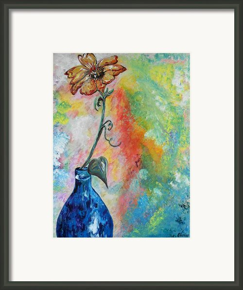 One Solitary Flower Framed Print By Eloise Schneider