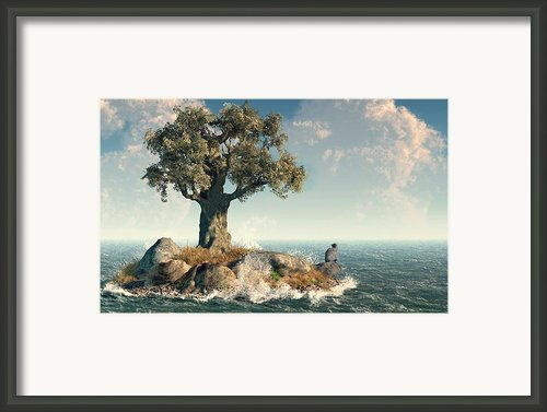 One Tree Island Framed Print By Daniel Eskridge