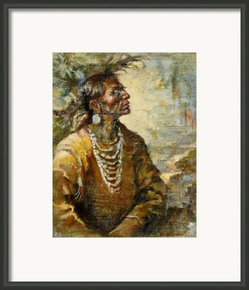 One With The Earth Framed Print By Ellen Dreibelbis