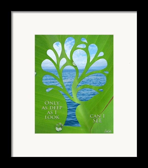 Only As Deep As I Look Can I See Framed Print By Nikki Smith