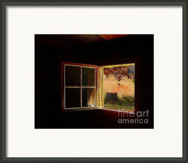 Open Cabin Window Ii Framed Print By Julie Dant