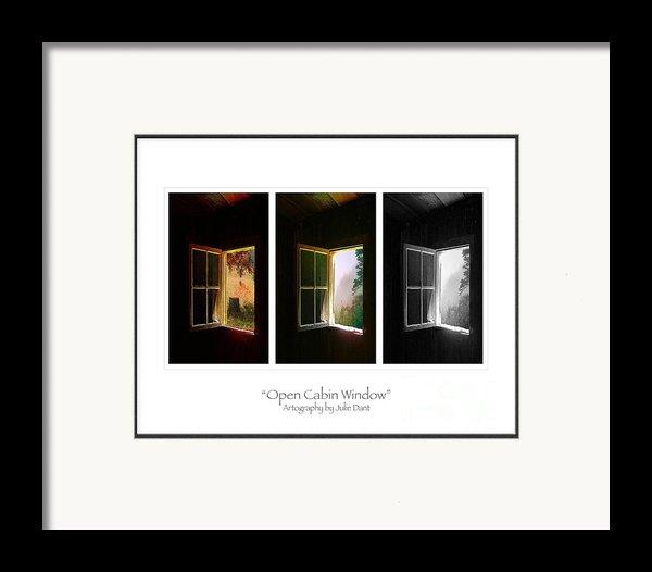 Open Cabin Window Trio Framed Print By Julie Dant