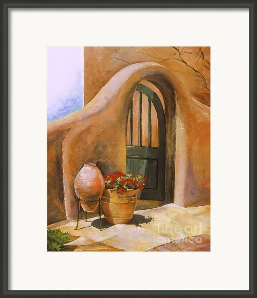 Open Door Adobe Framed Print By Renee Womack