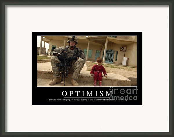 Optimism Inspirational Quote Framed Print By Stocktrek Images