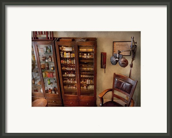 Optometrist - The Optometrists Office Framed Print By Mike Savad