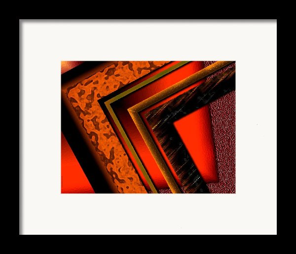 Orange And Brown  Framed Print By Mario  Perez