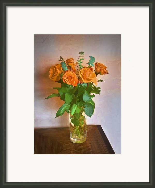 Orange And Green Framed Print By John Hansen