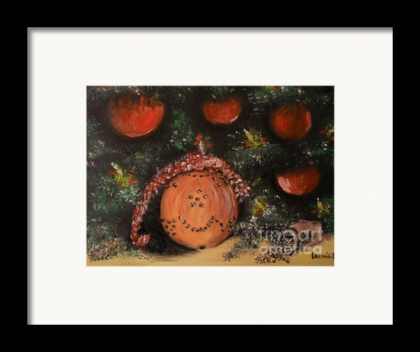 Orange Clover Christmas Framed Print By Laurie D Lundquist
