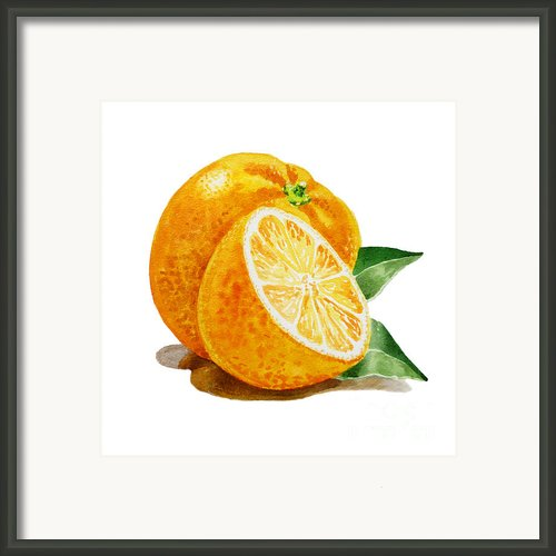 Orange Framed Print By Irina Sztukowski