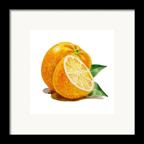 Orange Framed Print By Irina Sztukowski