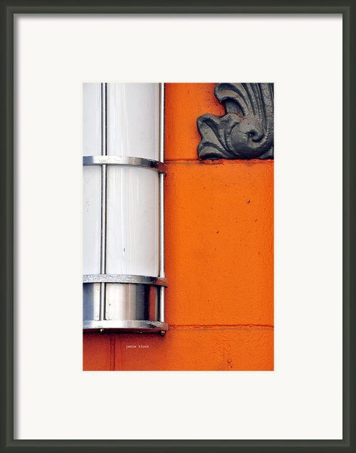 Orange Lite Framed Print By Jamie Klock