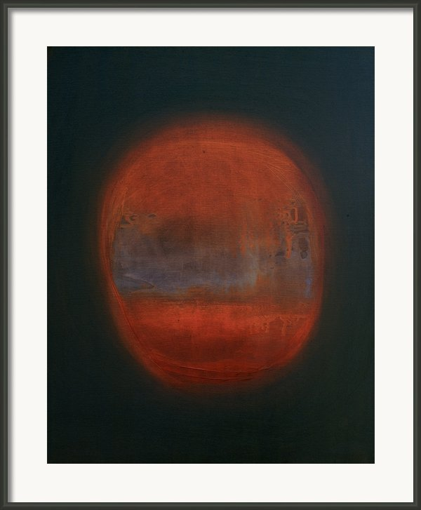 Orange Orb Framed Print By Kongtrul Jigme Namgyel