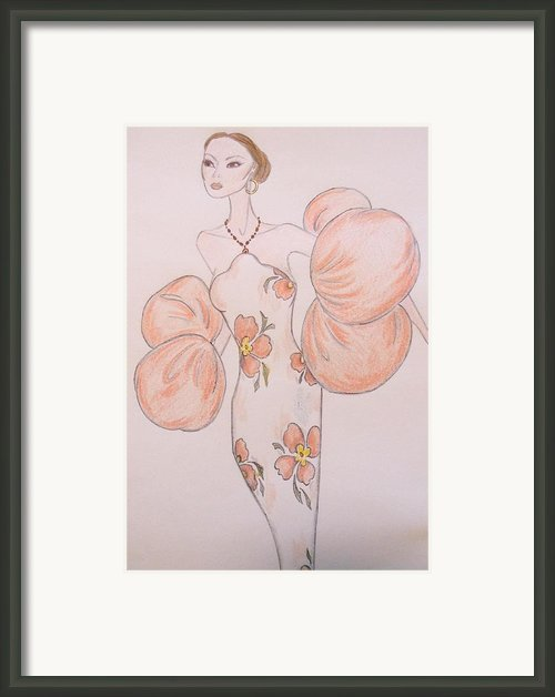 Orange Organza Framed Print By Christine Corretti