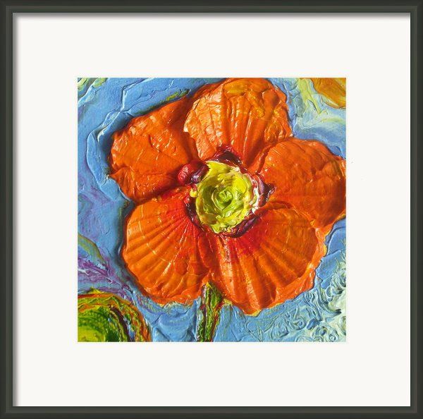 Orange Poppy Ii Framed Print By Paris Wyatt Llanso